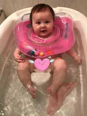 37415221de6 Ujumisrõngas beebile 1-18 kuu vanuses.